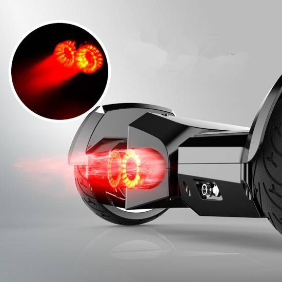 SMART BALANCE HOVERBOARD JET STYLE  BLACK WITH BLUETOOTH AND LIGHTS SMART BALANCE WHEEL 8.5""