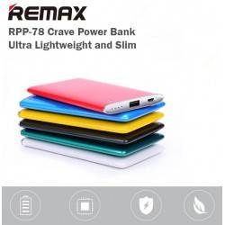 REMAX RPP-78 CRAVE POWER BANK PORTABLE CHARGER ULTRA SLIM