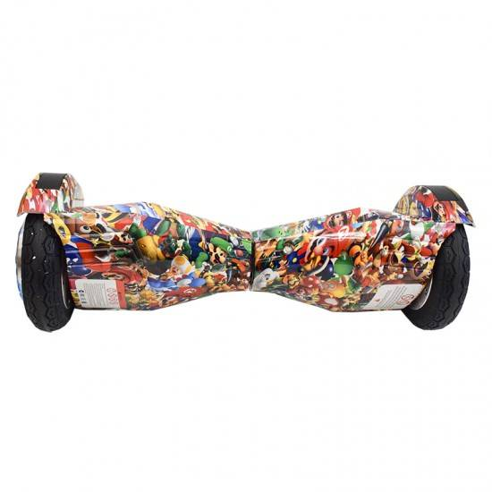 """SMART BALANCE HOVERBOARD TRANSFORMERS BLUETOOTH & LED ΗΛΕΚΤΡΙΚΟ ΠΑΤΙΝΙ SUPER MARIO 8"""" SPECIAL EDITION"""