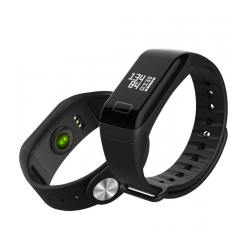 SMART BRACELET F1 BLUETOOTH 4.0 IP67 ADIABROXO - ΜΑΥΡΟ F1-01