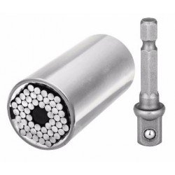 SET 7-19MM UNIVERSAL SOCKET WRENCH POWER DRILL ADAPTER TORQUE SLEEVE NUTS SCREWS HOOKS REPAIR TOOLS ETC-120A
