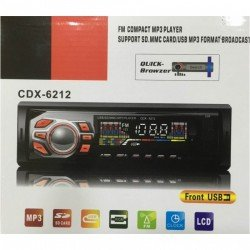 MP3 PLAYER AYTΟΚΙΝΗTOY USB SD FM AUX REMOTE 1DIN CDX-6212 ΟΕΜ