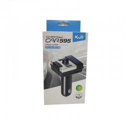 TRANSMITTER FM CAR KIT BLUETOOTH MP3 DUAL USB BLACK OEM CAR595