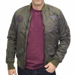 SPLENDID DARK GREEN BOMBER JACKET 40-201-082