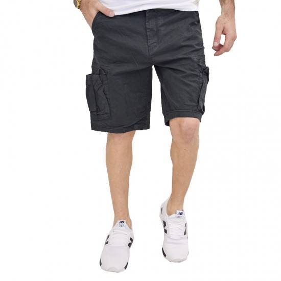 9b62584dc259 GARAGE 55 ΒΕΡΜΟΥΔΑ CARGO SHORTS ANTHRACITE GAM201-03118