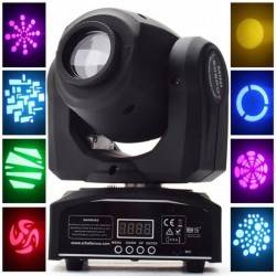 SPOT LED MOVING HEAD GOBOS STAGE LIGHT DMX512 30W RGBW
