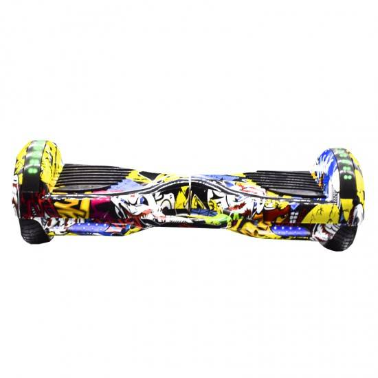 SMART BALANCE HOVERBOARD WHEEL WITH BLUETOOTH & LED ΚΙΤΡΙΝΟ HIP HOP 6.5'' HANDLE
