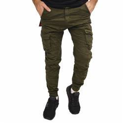 BACK 2 JEANS CARGO JEANS ARMY GREEN W18