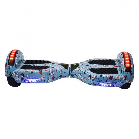 """SMART BALANCE HOVERBOARD WHEEL WITH BLUETOOTH & LED ΗΛΕΚΤΡΙΚΟ ΠΑΤΙΝΙ SNOOPY 6,5"""""""