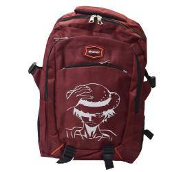 ΣΧΟΛΙΚΗ ΤΣΑΝΤΑ BACKPACK ONE PIECE LUFFY DARK RED OEM BG132