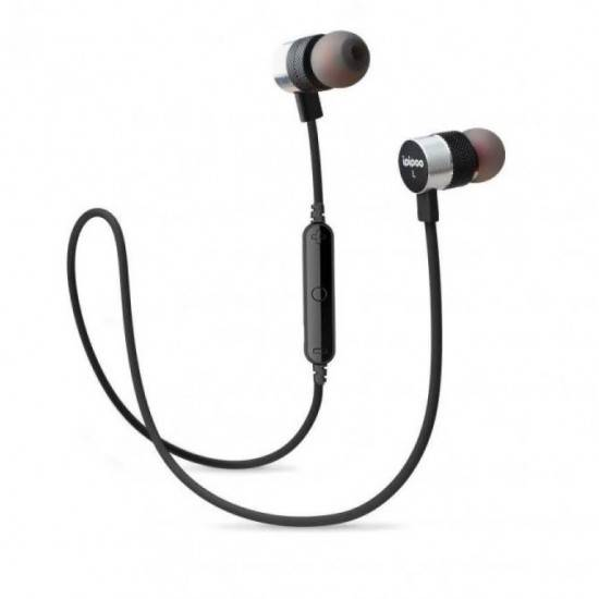IPIPOO IL92BL BLUETOOTH WIRELESS SPORTS EARPHONES BLACK