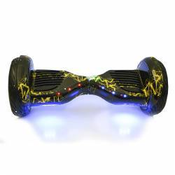 SMART BALANCE HOVERBOARD BIG WHEEL WITH BLUETOOTH & LED ΗΛΕΚΤΡΙΚΟ ΠΑΤΙΝΙ YELLOW THUNDER 10.5''