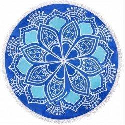 BLUE MANDALA BEACH TOWEL - ΠΕΤΣΕΤΑ ΘΑΛΑΣΣΗΣ ΣΤΡΟΓΓΥΛΗ MANDALA ΜΠΛΕ Φ150