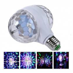 GLISTENY E27 B22 3W DOUBLE HEADED-LED BALL STAGE RGB LIGHT ROTATING LAMP KTV PARTY E27