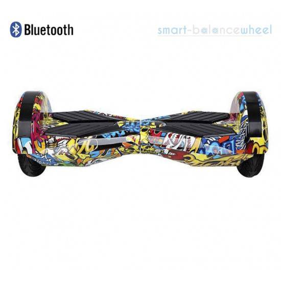 "HIP-HOP 8"" RACING PERFORMANCE HOVERBOARD WITH BLUETOOTH AND LIGHTS SMART BALANCE WHEEL"