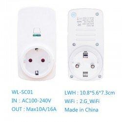 WIFI SMART POWER SOCKET OUTLET SWITCH APP WL-SC01