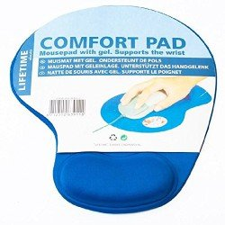 MOUSE PAD COMFORT PAD WITH GEL FOR OPTICAL TRACKBALL MOUSE BLUE OEM COMFORTPAD