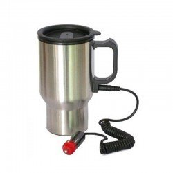 ELECTRIC CAR MUG STAINLESS STEEL 140 OZ 12V CARMUG