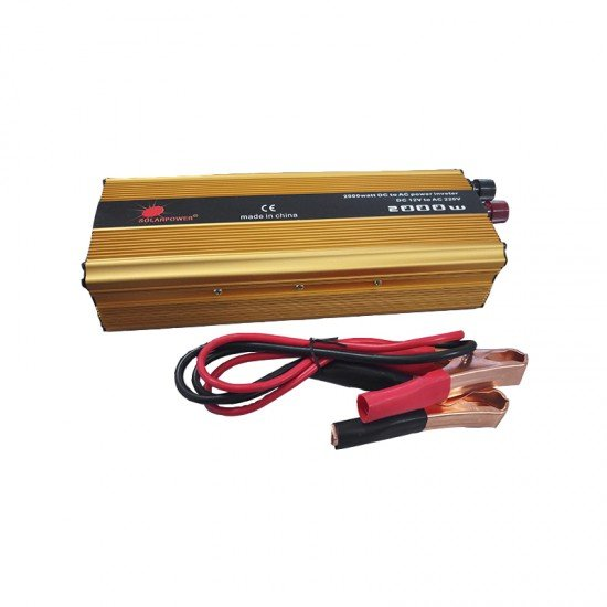 INVERTER ΑΥΤΟΚΙΝΗΤΟΥ 2000W DC12V TO AC 230V SOLAR CAR POWER INVERTER SS18-110 ΤΡΟΠ. ΗΜΙΤΟΝΟΥ
