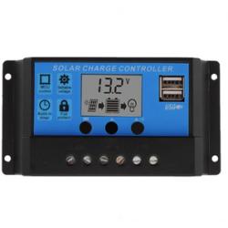 PWM 10A DUAL USB SOLAR PANEL BATTERY REGULATOR CHARGE CONTROLLER 12V/24V