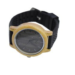 BAMBOO WATCH UNISEX -  ΡΟΛΟΙ ΜΠΑΜΠΟΥ WE BLACKBAMBOO 901156