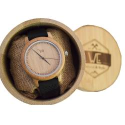 BAMBOO WATCH UNISEX -  ΡΟΛΟΙ ΜΠΑΜΠΟΥ WE BLACKBAMBOO 900728