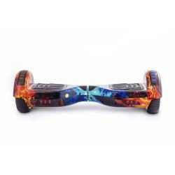 SMART BALANCE HOVERBOARD WHEEL BLUETOOTH & LED ΗΛΕΚΤΡΙΚΟ ΠΑΤΙΝΙ FIRE vs WATER 6.5''