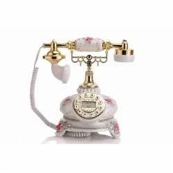 VINTAGE STYLE TELEPHONE ΡΕΤΡΌ ΣΤΑΘΕΡΟ ΤΗΛΕΦΩΝΟ ΕΠΙΤΡΑΠΕΖΙΟ ΕΝΣΥΡΜΑΤΟ LNC GBD-9020A