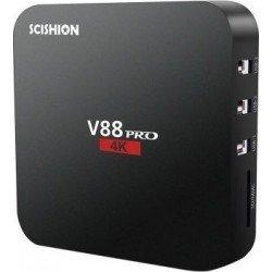 ANDROID TV BOX SCISHION V88 PRO MALOGIC S905XQUAD CORE - EU PLUG BLACK