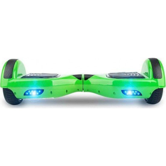 SMART BALANCE HOVERBOARD WHEEL WITH BLUETOOTH & LED ΗΛΕΚΤΡΙΚΟ ΠΑΤΙΝΙ GREEN 6.5''