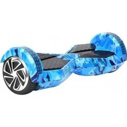 SMART BALANCE HOVERBOARD WHEEL WITH BLUETOOTH & LED ΗΛΕΚΤΡΙΚΟ ΠΑΤΙΝΙ BLUE ARMY 8""