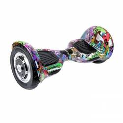 SMART BALANCE HOVERBOARD WHEEL WITH BLUETOOTH & LED ΗΛΕΚΤΡΙΚΟ ΠΑΤΙΝΙ GRAFFITI HIP HOP 10""