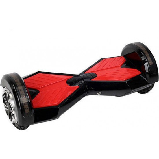 SMART BALANCE HOVERBOARD WHEEL WITH BLUETOOTH & LED ΗΛΕΚΤΡΙΚΟ ΠΑΤΙΝΙ BLACK/RED HB45  8""