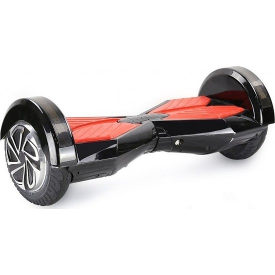 """SMART BALANCE HOVERBOARD WHEEL WITH BLUETOOTH & LED ΗΛΕΚΤΡΙΚΟ ΠΑΤΙΝΙ BLACK/RED P7 8"""""""