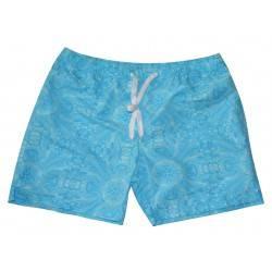 SOUL STAR ΑΝΔΡΙΚΟ ΜΑΓΙΟ BLUE FLORAL SWIMMING SHORTS 35-231-003