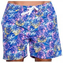 SOUL STAR ΑΝΔΡΙΚΟ ΜΑΓΙΟ TURQUOISE TROPICAL FLORAL SWIMMING SHORTS 33-231-002