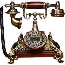 VINTAGE TELEPHONE ΡΕΤΡΌ ΣΤΑΘΕΡΟ ΤΗΛΕΦΩΝΟ ΕΠΙΤΡΑΠΕΖΙΟ ΕΝΣΥΡΜΑΤΟ Χ-5842