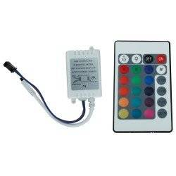 24 BUTTON RGB REMOTE CONTROLLER FOR LED LIGHT STRIP 12V