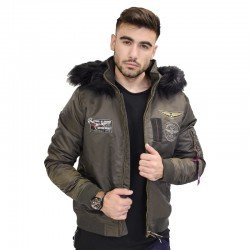 BISTON BOMBER JACKET KHAKI 38-201-062