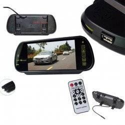BLUETOOTH MP5 FM SD USB CAR REAR VIEW MIRROR MONITOR 7 INCH 2 AV TFT LCD 800X480