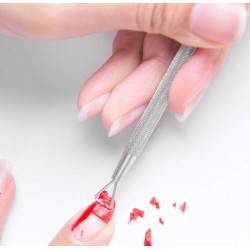 CUTICLE PUSHER STΑΙΝLESS STEEL TRIANGLE PUSHER PEELER SCRAP REMOVE GEL NAIL POLISH NAIL TOOL