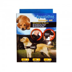 SPORTS DOG HARNESS SET EXTRA STRONG ADJUSTABLE HARNESS
