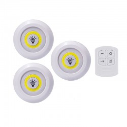WIRELESS LED LIGHTS REMOTE CONTROLLED 3 TEM