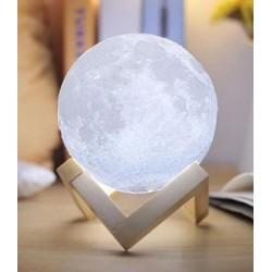 3D ΑΣΥΡΜΑΤΗ ΛΑΜΠΑ ΣΕ ΣΧΗΜΑ ΣΕΛΗΝΗΣ - 3D MOON LAMP