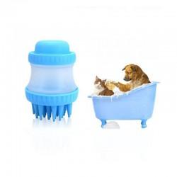 ΒΟΥΡΤΣΑ ΣΙΛΙΚΟΝΗΣ ΚΑΘΑΡΙΣΜΟΥ ΣΚΥΛΩΝ - DOG WASHER CLEANING DEVICE BLUE