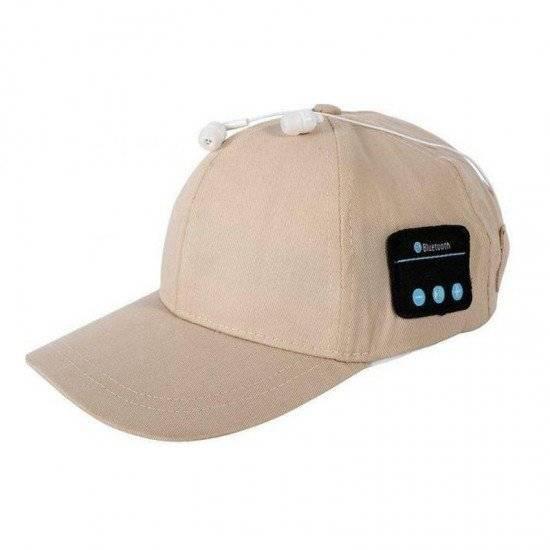 ΚΑΠΕΛΟ WIRELESS BLUETOOTH HAT OUTDOOR SPORTS CAPS HEADPHONES CALL MUSIC SUN CAP BEIGE AA963211
