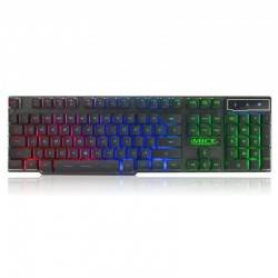 IMICE 3-COLOR BLACKLIGHT WIRED USB GAMING KEYBOARD BLACK AK-600