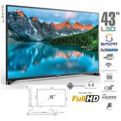 "SUNNY SMART TV ΤΗΛΕΟΡΑΣΗ 43"" SUNNY SMART DVB-T2 / C / S2 LED TV"
