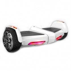 SMART BALANCE HOVERBOARD JET STYLE  WHITE WITH BLUETOOTH AND LIGHTS SMART BALANCE WHEEL 8.5""