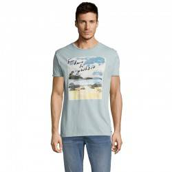 FUNKY BUDDHA T-SHIRT FROM HERE TO ANYWHERE LIGHT BLUE FBM011-04119